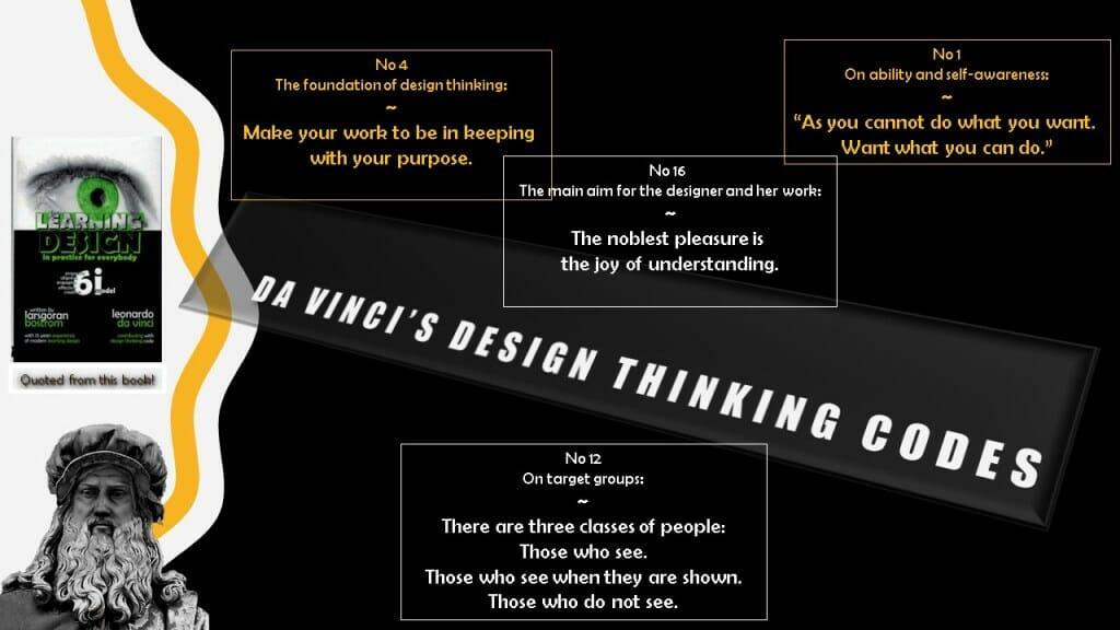 Leonardo Da Vinci's sixteen design codes